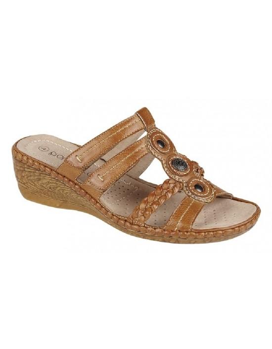 Boulevard NINA Full Adjustable Wedge Summer Mule Sandals