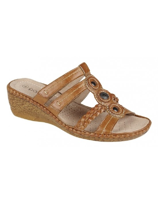 Boulevard NINA Full Adjustable Wedge Summer Mule Sandals