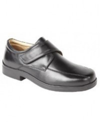 Roamers M435A Mens Softie Leather Extra Wide Touch Fastening Shoes