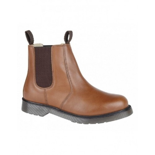 Grafters M153 Niko Cushioned Twin Gusset Plain AirWair Sole Chelsea Boots