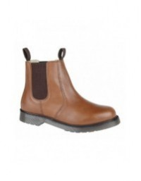 Grafters M153 Cushioned Twin Gusset Plain AirWair Sole Chelsea Boots