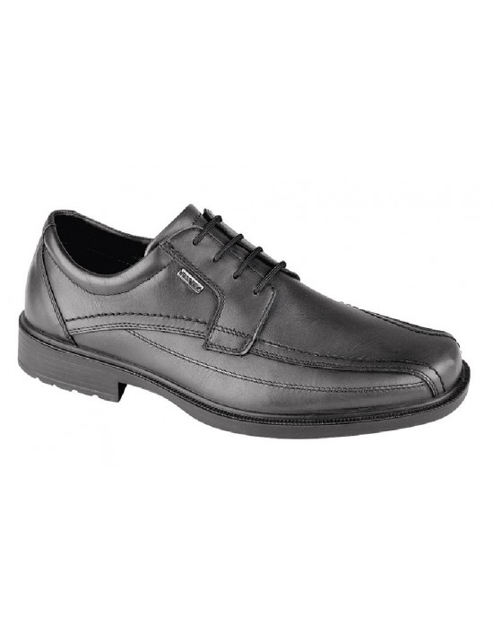 IMAC Mens Wide Fitting Lace Up Leather Formal Square Toe Shoes