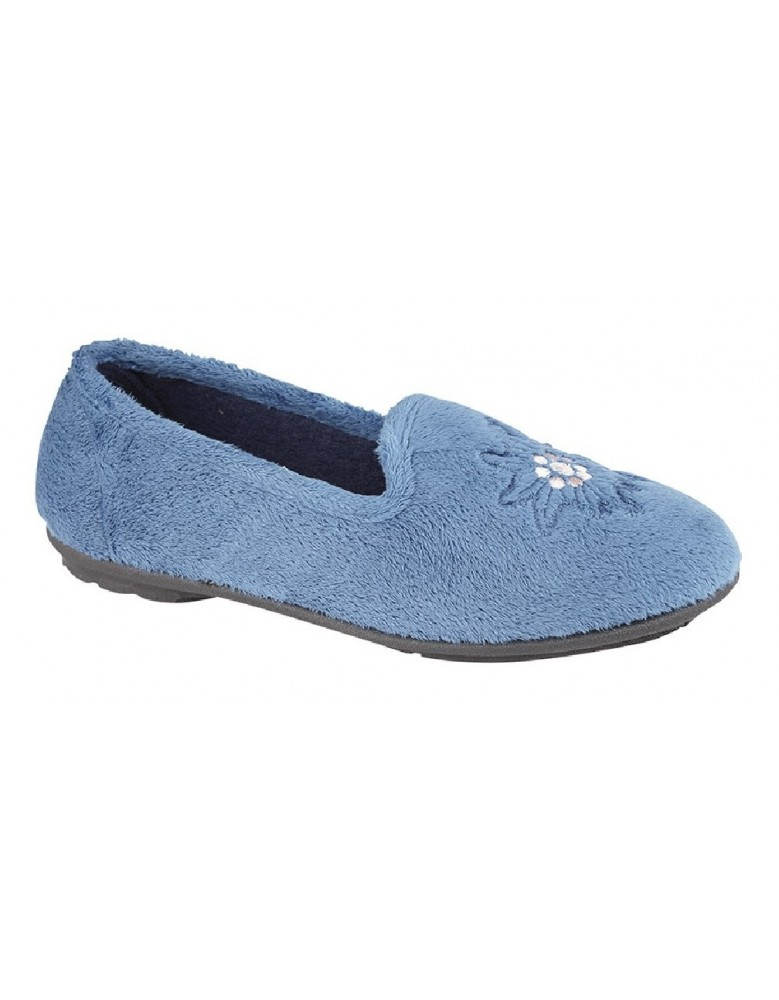Sleepers TAMSIN Embroidered Logo Extra Comfort Memory Slipper