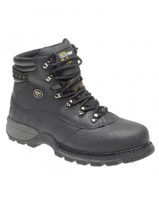 Mens Industrial GRAFTERS Safety Hiker Type Boots Safety Toe Cap