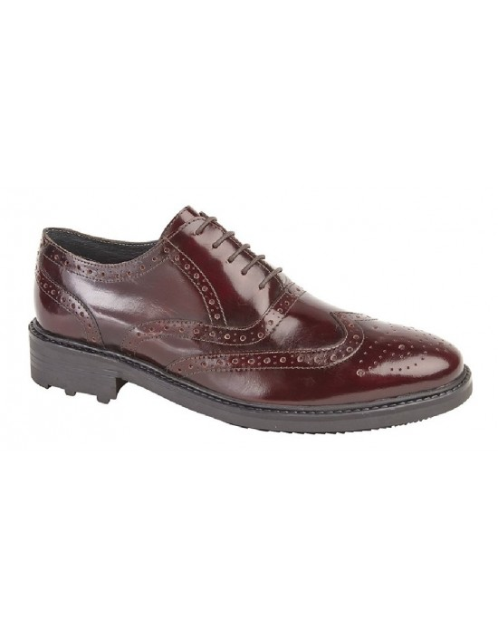 Roamers M179 TED 5 Eyelet Brogue Oxford Comfort Formal Shoes