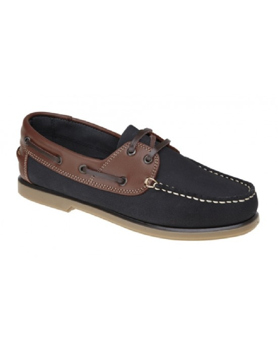 Dek Lace Up Leather Collar Classic Boat Shoes