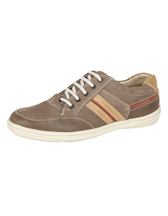 Roamers M500 5 Eye Leather Lace Up Leisure Boat Casual Shoes