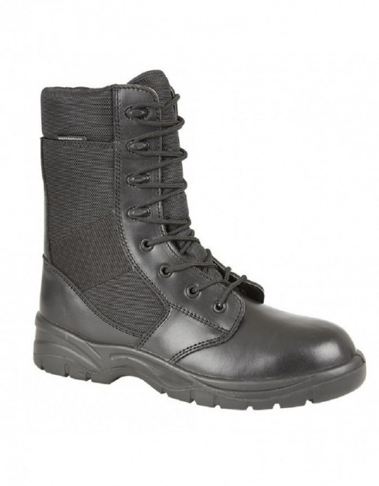 ladies-military-grafters-leather-textile-boots