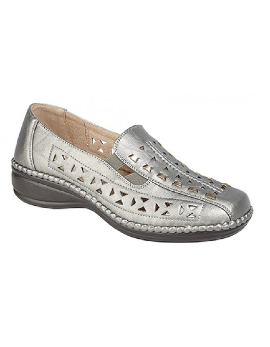 Boulevard Lina Punched Interlaced Gusset Summer Casual Lightweight Shoes