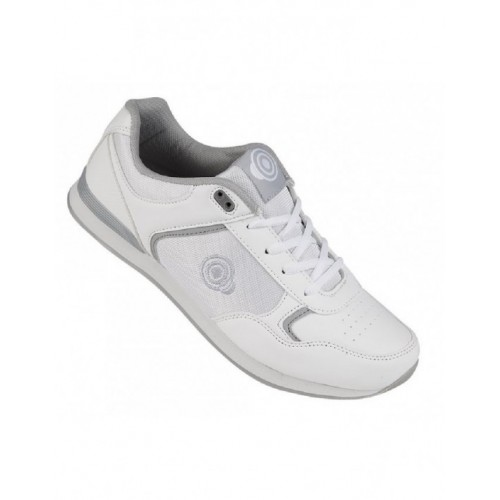 Dek JACK T836 Lace Up Original Padded Bowling Trainer Shoes White//Grey PU//Textil
