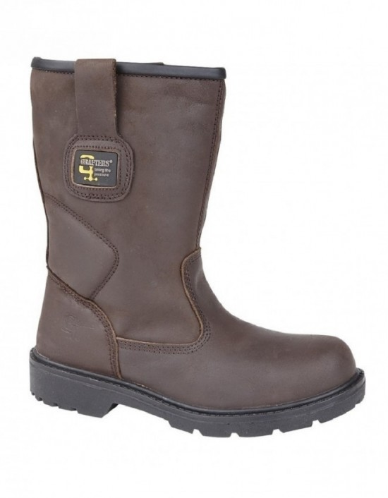 Mens GRAFTERS Industrial Waterproof Safety Rigger Boots