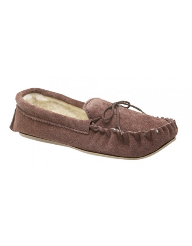 1f2407303c86 Mokkers SHERIDAN Suede Leather Faux Fur Indoor Slippers - ShuCentre