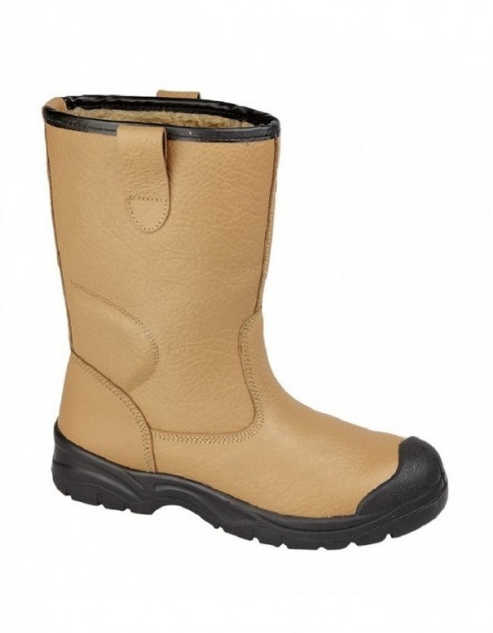 Mens GRAFTERS Scuff Toe Cap Safety Rigger Boots