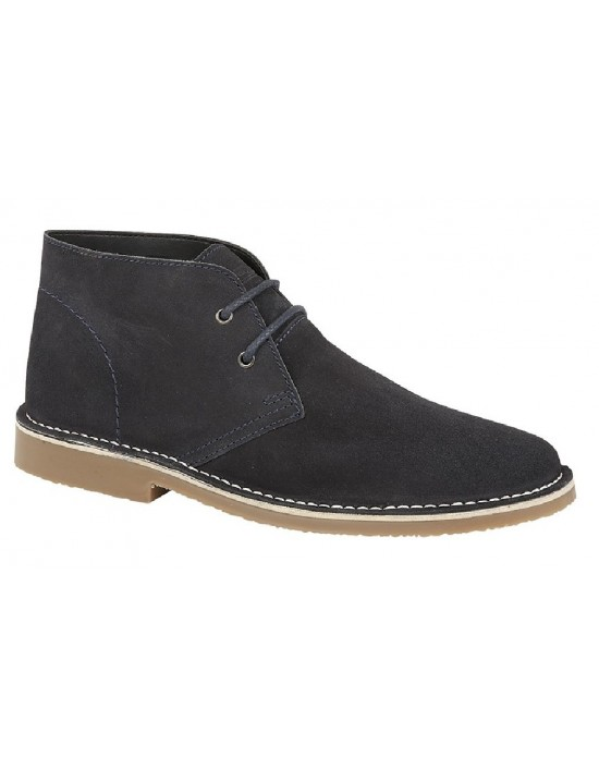 Roamers' Fashion Leather 2 Eye Classic Smart Round Toe Desert Boots