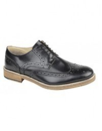 Roamers M891 Brouge Leather Gibson 5 Eyelet Wing Capped Shoes