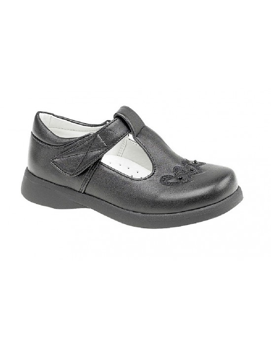 Boulevard C732 Girls T Bar Touch Fastening Shoes