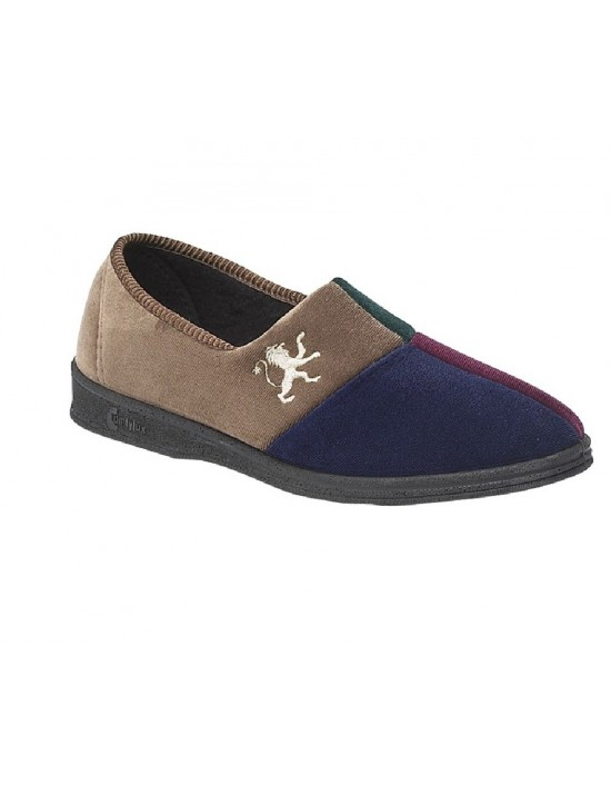 Comfylux HARLEQUIN Squares Multi Colour Indoor Slippers