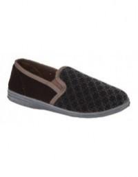Zedzzz KEVIN Textile Twin Gusset Indoor Full Slippers UK6 -16 Big size