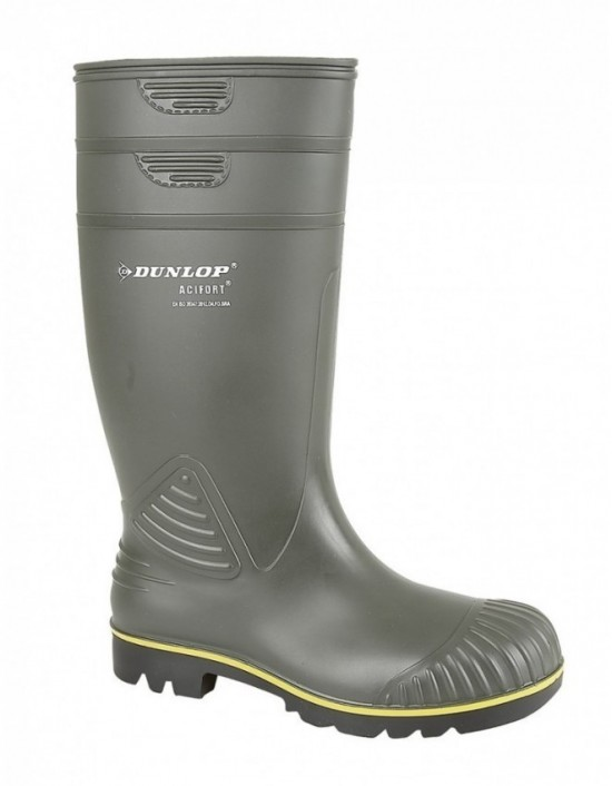 Mens Dunlop ACIFORT Heavy Duty Yellow Line Agricultural Wellingtons