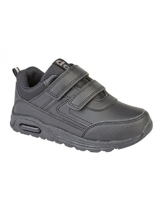 Dek FELIX T852 Unisex All Black Touch Fastening Trainer