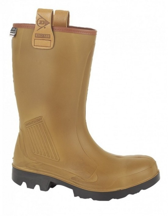 Mens DUNLOP PROTECTIVE 'PUROFORT' Rigger Waterpoof Boots