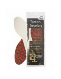 Ladies Tartan Grafters Insoles Latex Foam Backed Comfort