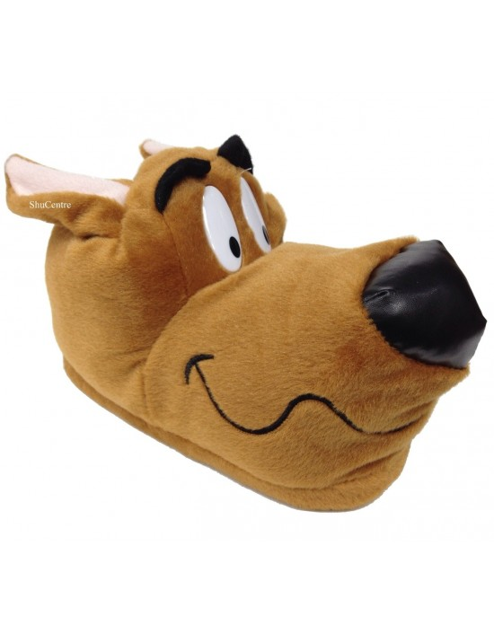 Shuby Doo Novelty Brown Hound Indoor Funny Gift Slippers Adults Kids