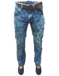 Mens Straight Fit Blue Denim Jeans