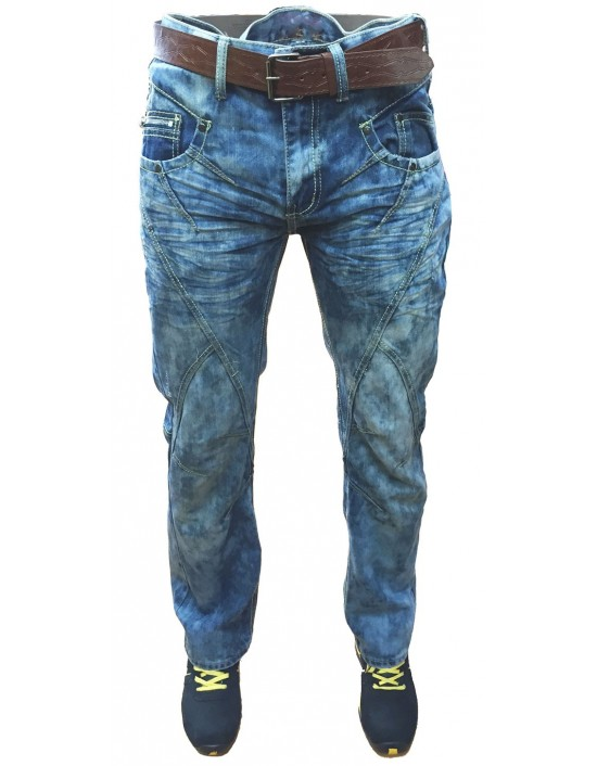 Mens Straight Fit Blue Denim Jeans