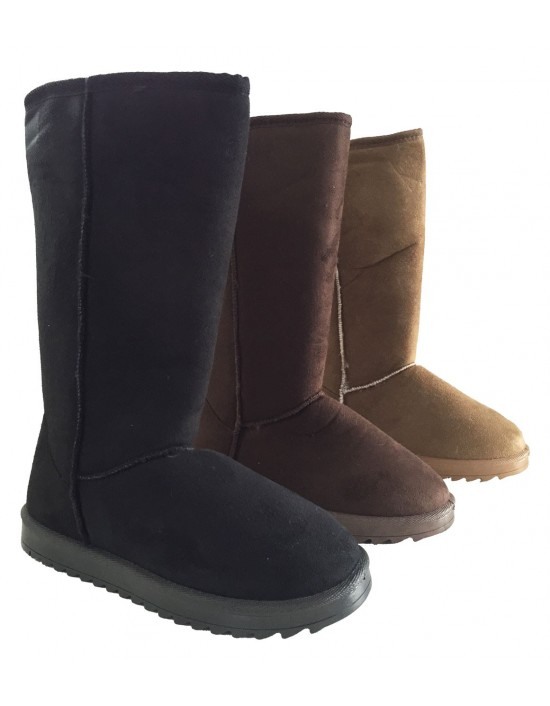 Ladies Winter Snow Boots Warm Casual Mid Calf Fashion Snug Faux Fur Line Shoes
