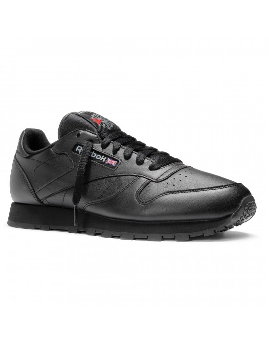 Mens Reebok Classic Leather Trainers - Black - 2267