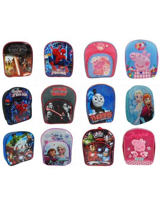 Childrens Kids Boys Girls Disney Marvel Backpack School Bag Rucksack Children