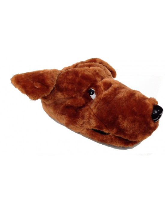 ShuCentre Derek Long Ears Novelty Animal Dog Indoor Slippers