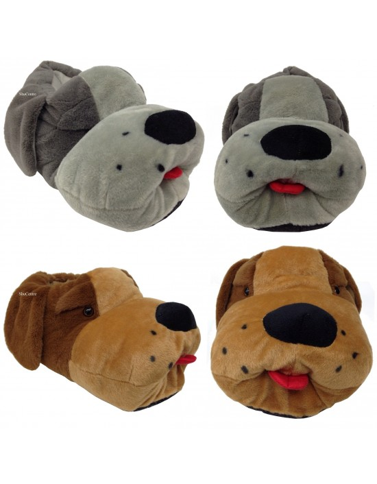 ShuCentre Unisex Jim Multi Funky Novelty Indoor Character Dog Slippers