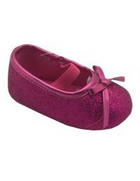 ShuCentre Elizabeth Diamante Elasticated Baby Toddler New Born Shoes