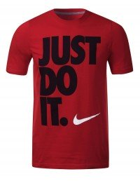 Nike Cotton Just Do It Men's Tee Shirt Crew Neck Short Sleeve Red Black White