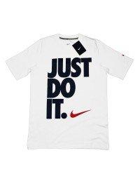 Nike Cotton Just Do It Men's Tee Shirt Crew Neck Short Sleeve Red Black White