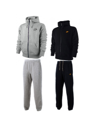 Nike Mens Fleece Jog Suit Hooded Top Bottoms Tracksuit Full Zip Hoodie Track