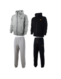 Nike Mens Fleece Jog Suit Hooded Top Bottoms Tracksuit Full Zip Hoodie Track Top