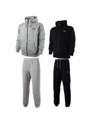 Nike Mens Fleece Jog Suit Hooded Top Bottoms Tracksuit Full Zip Hoodie Track Top