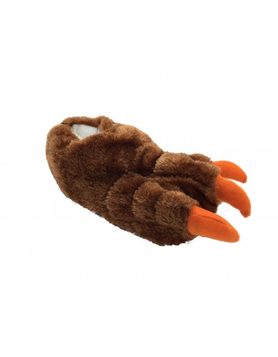 ShuCentre Unisex Brown Novelty Indoor Claw Animal Bear Slippers Funny Kids Shoes