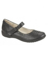 Boulevard Holly Touch Fastening Bar Casual Comfort Sock Everyday Shoes