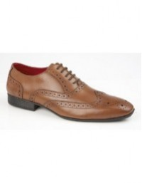 Route21 M338 Leather Brogue Oxford Classic Lace Up Formal Shoes