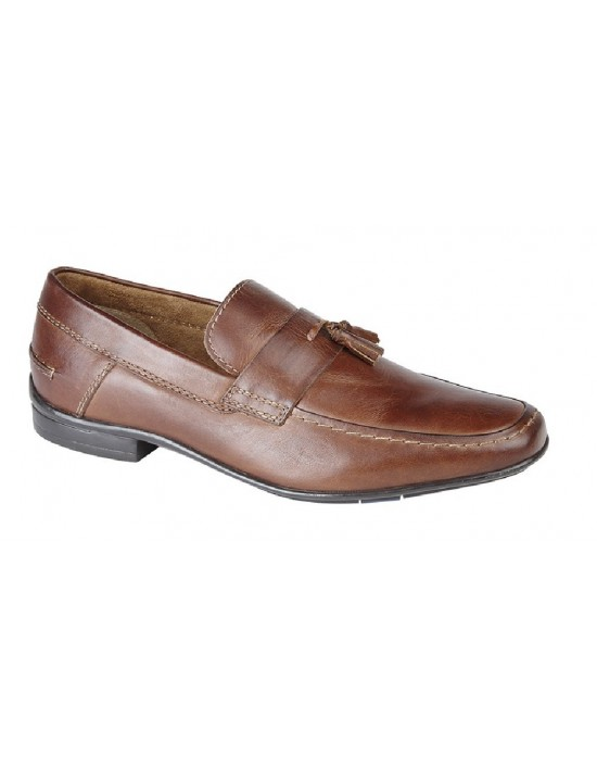 c8bc4d3a210f Roamers M814 Monk Saddle Tassle Toggle Leather Slip On Smart Loafer Shoes  Roamers M814 Monk Saddle.