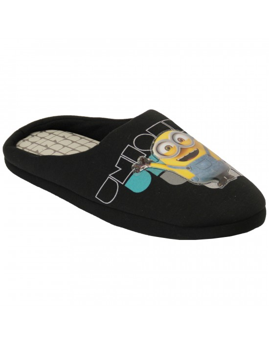 Official Licensed Mens Novelty Minions Character Mule Slippers