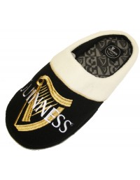 """Mens New Official """"GUINNESS"""" Black Novelty Mule Slippers SIZE 7 -12"""