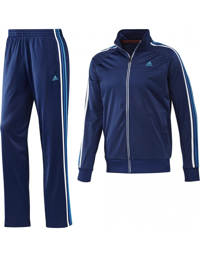 Adidas Mens ESS Retro Night Blue Full Suit Tracksuit Jacket & Bottoms F48329
