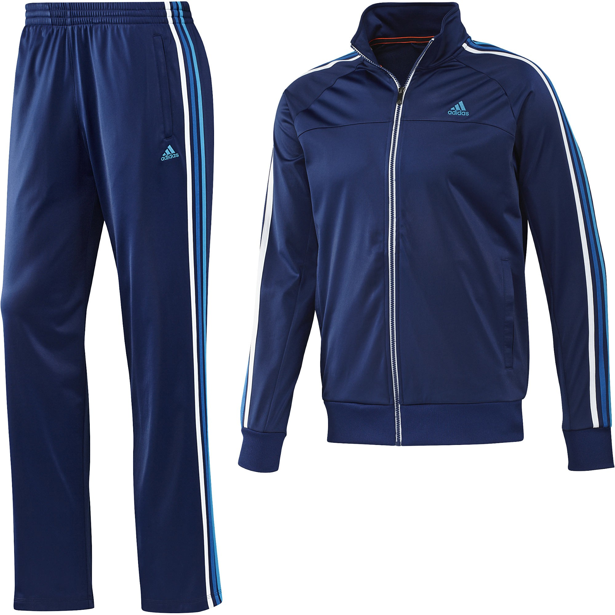 af35f81602b8 Adidas Mens ESS Retro Night Blue Full Suit Tracksuit Jacket   Bottoms