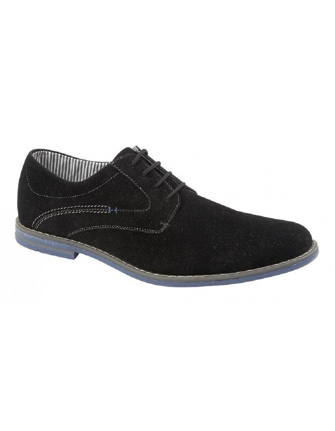 Mens 4 Eye Synthetic Suede Gibson Shoes