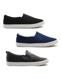 Womens Ladies Canvas Sim Fit Slip On Twin Gusset Yachting Plimsolls Deck Shoes